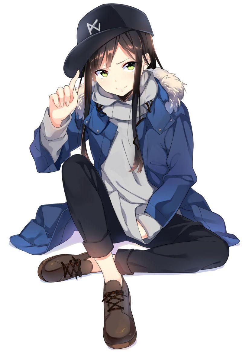 美少女 帽子 野球キャップ フード付きカレッジ 画像