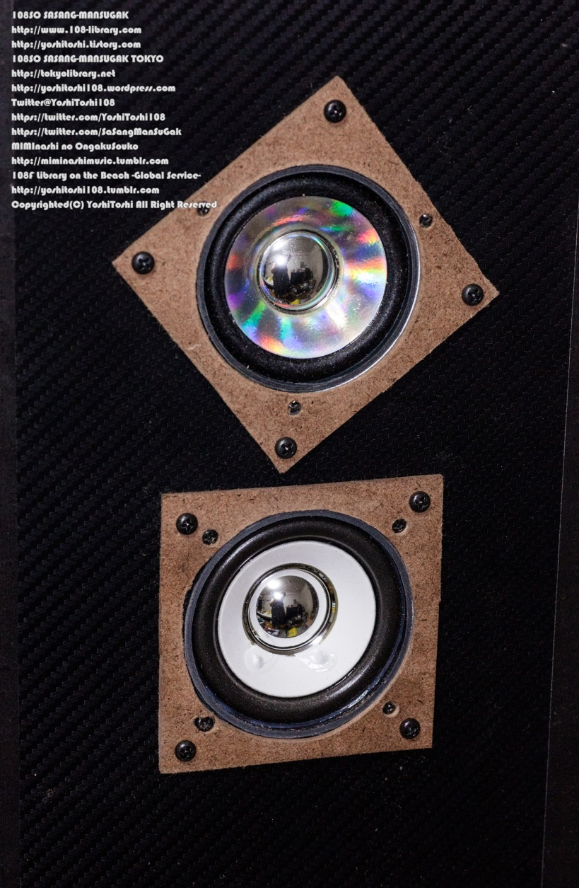 自作スピーカー エンクロージャ 写真 シート紙 工程 最適化 交差配置 専用機